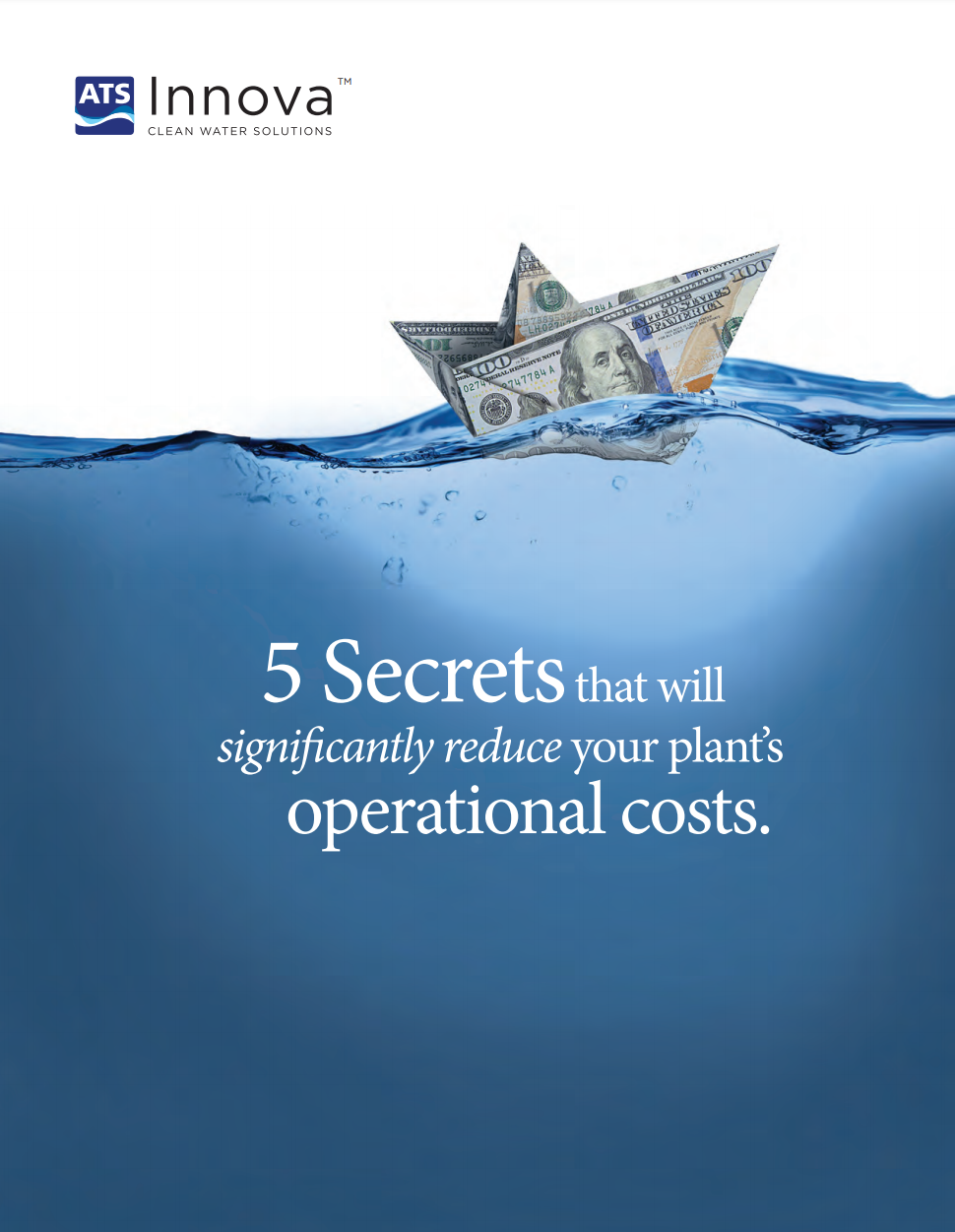 """The first page of """"Five Secrets that will significantly reduce your plant's operational costs."""""""